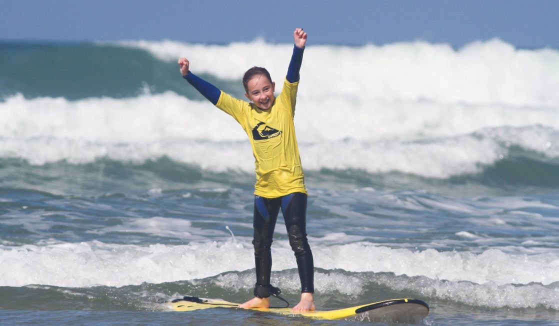 Kids Only Surf Lessons Fistral Beach Newquay Cornwall