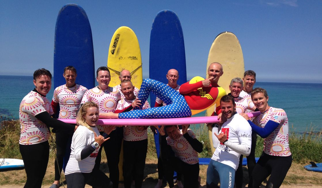 Stag Group Surf Fistral Beach Newquay Cornwall