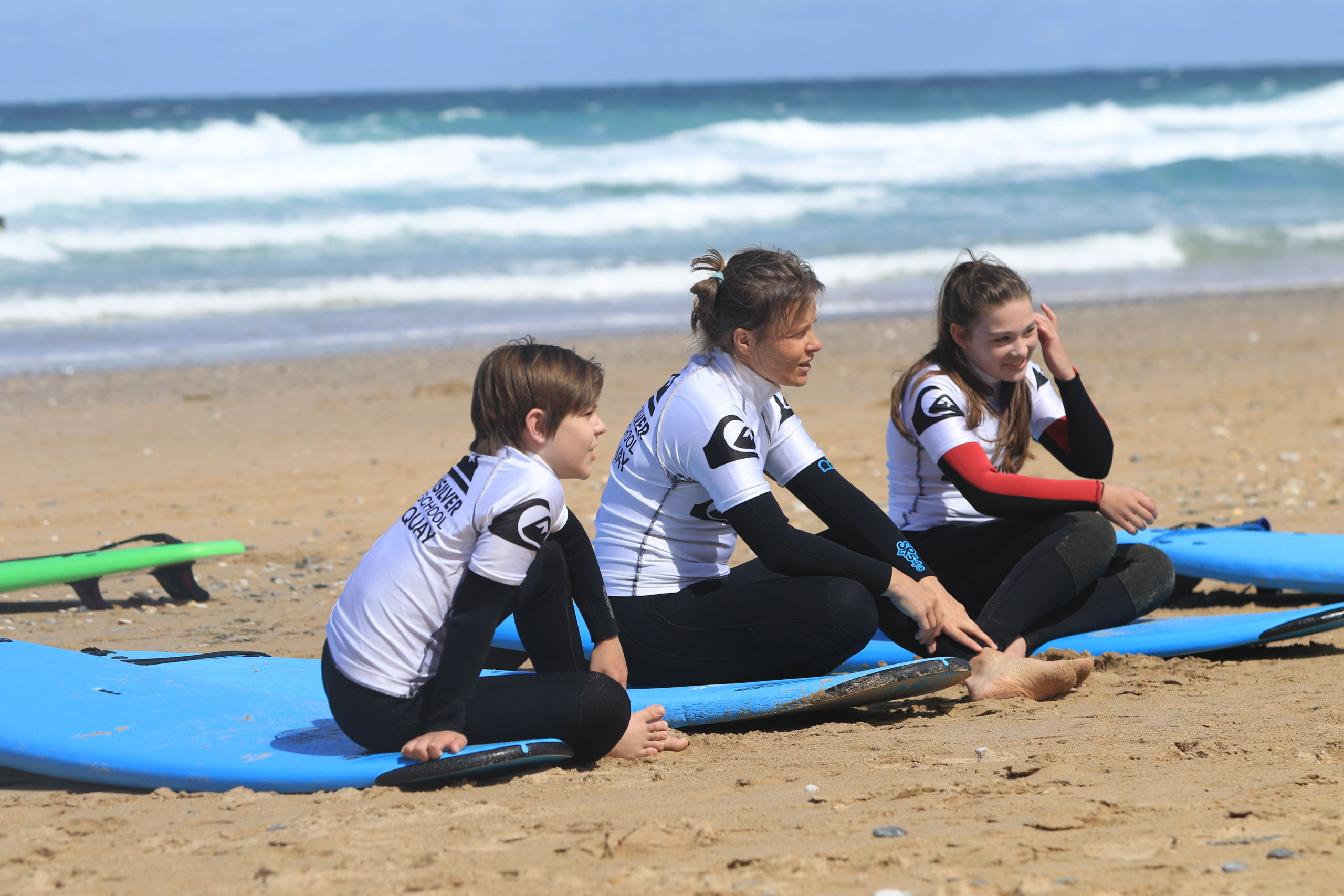 Family Surf Lessons Fistral Beach Newquay Cornwall